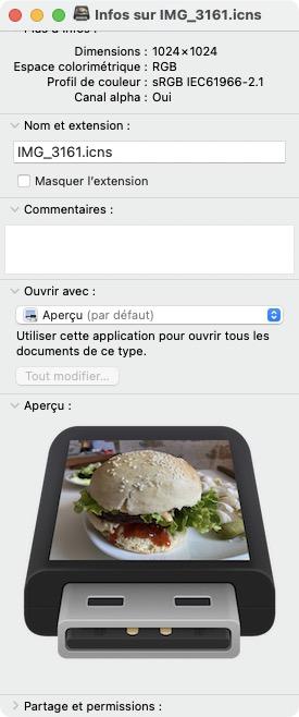 creation icone personnalisee sur mac pour cle usb