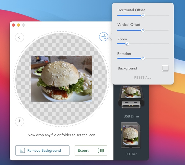 creer icone depuis une photo sur Mac