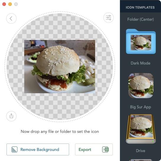 mac creer icone depuis une photo