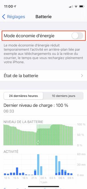 modifier delai de mise en veille iphone