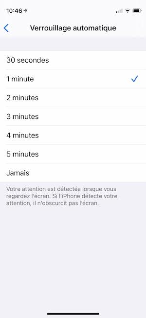 modifier verrouillage automatique iphone rapidement