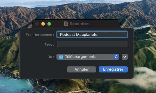 sauvegarder podcast sur mac