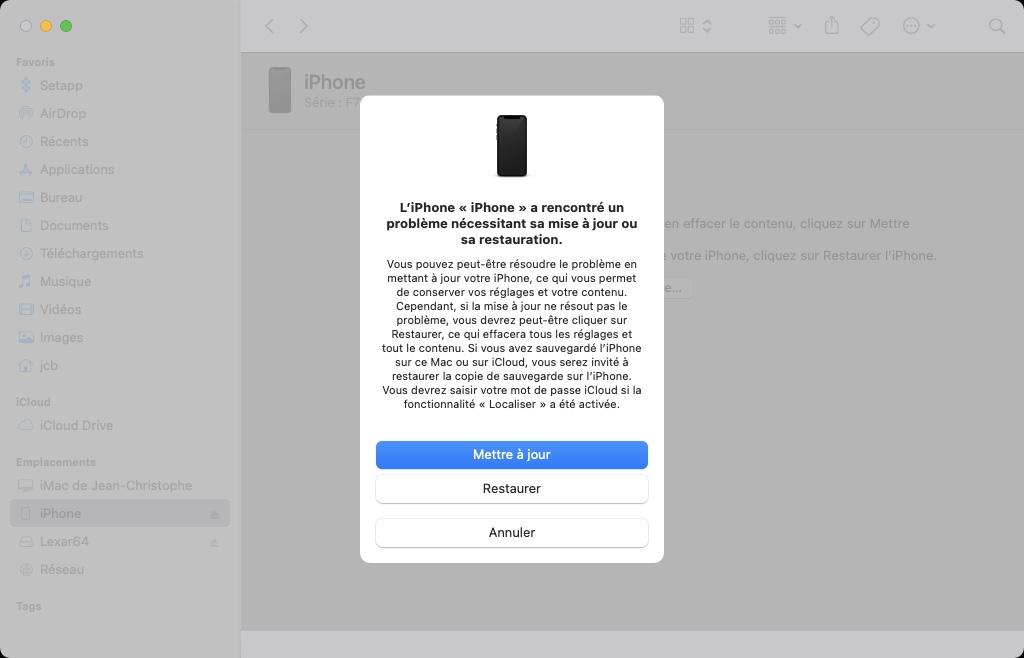 downgrader iphone ios 15 vers ios 14