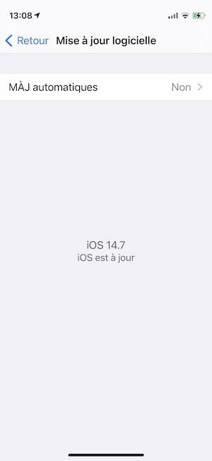 ios 14 7 mise a jour iPhone