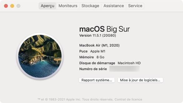 mac os big sur 11.5.1
