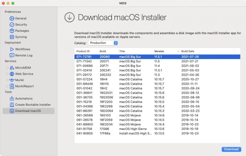 macOS Big Sur 11.5.1 telechargement direct