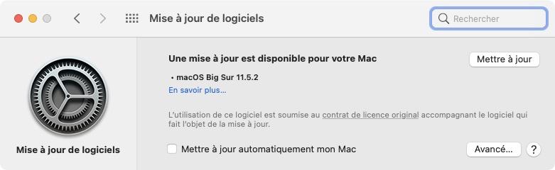 Telecharger macOS Big Sur 11.5.2