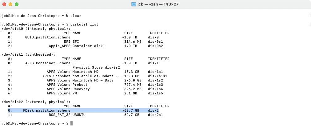 cle usb demarrage ubuntu sur mac