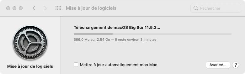installation big sur 11.5.2