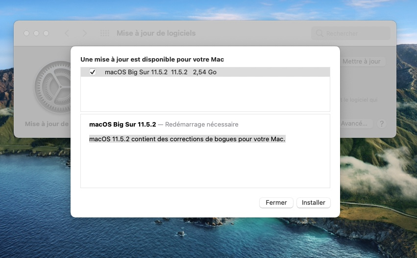 macOS Big Sur 11.5.2 en savoir plus