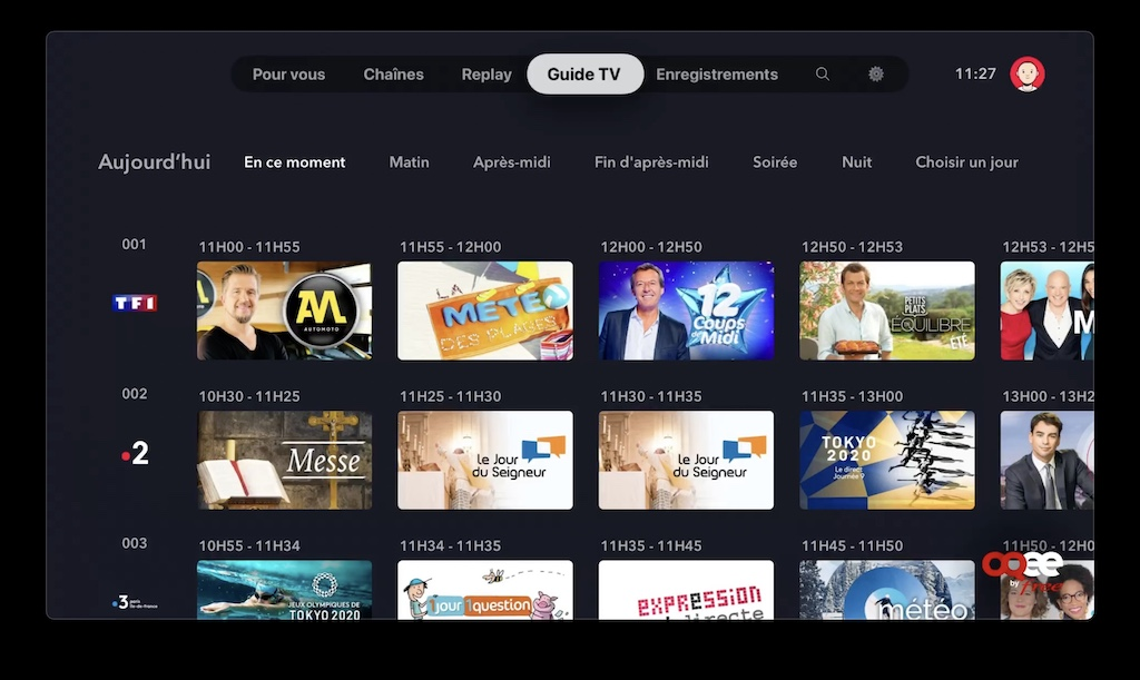 oqee guide tv