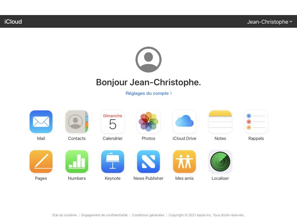 creer un alias iCloud sur icloud.com