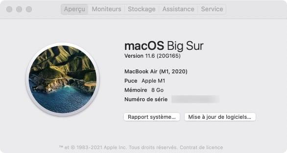macos 11.6 pour mac intel et silicon