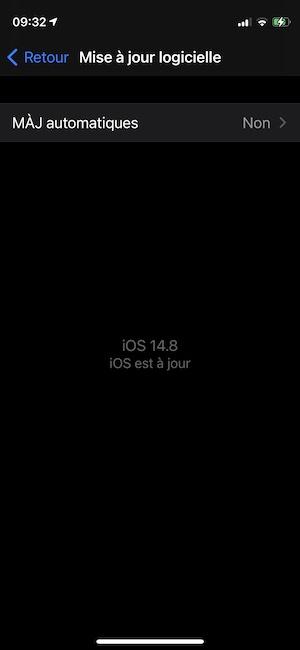 mise a jour logicielle ios 14.8
