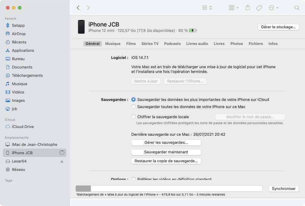 telecharger maj ios 14 8 iphone
